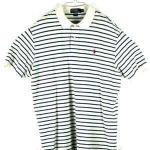 Mens Polo Ralph Lauren Striped Short Sleeve Golf